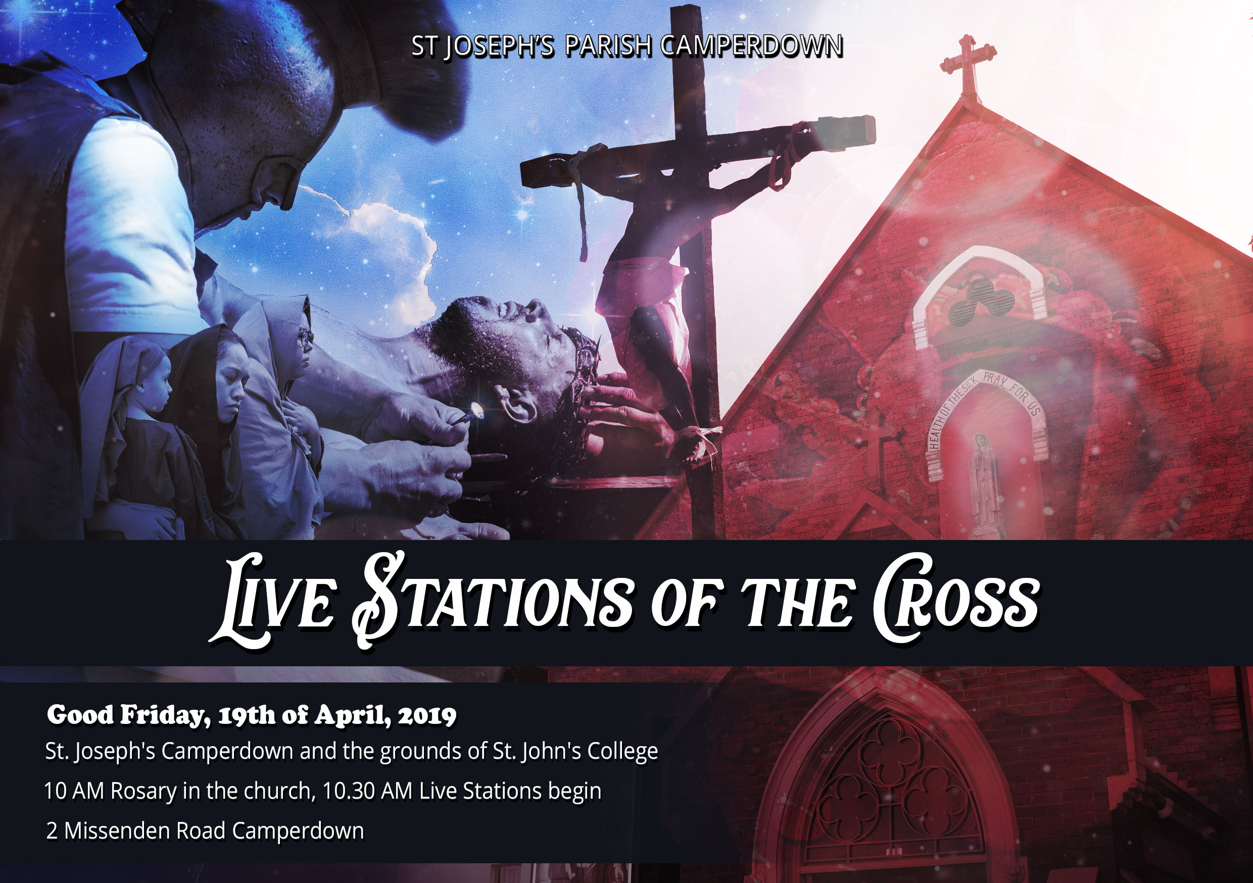 Live Stations of the Cross 2019 flyer
